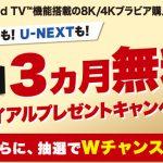 「Android TV機能搭載の8K/4Kブラビア購入者限定、3ヵ月無料トライアルプレゼントキャンペーン」